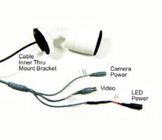full 1080p HD video, HD cctv camera invisible 940nm IR camera, HD bullet cam White LED light
