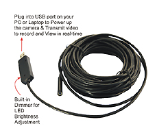 micro snake head pipeline USB inspection video camera